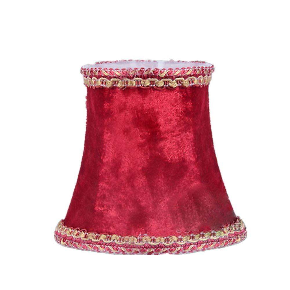 en velours Abat-jour Tissu Bureau plafond ampoule lampe Bougie Clip Coque chongyixian quanping