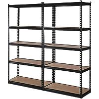 2x1.5M Warehouse Shelving Racking Storage Garage Steel Metal Shelves Rack
