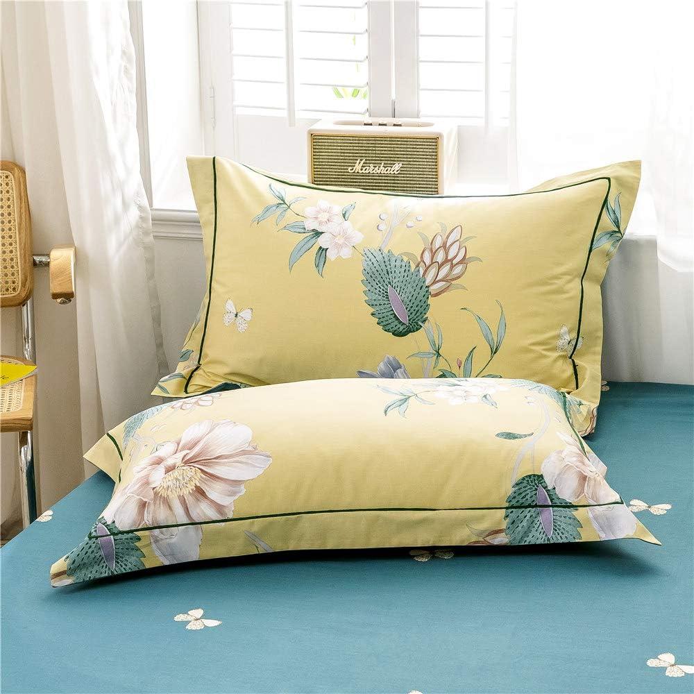 VClife Garden Floral Bedding Duvet Cover Sets Twin Cotton Bedding Sets 1 Duvet Cover + 2 Pillowcases, No Comforter Lightweight Pink White Floral Green Leaf Duvet Cover Sets Aqua Blue Bedding Sets