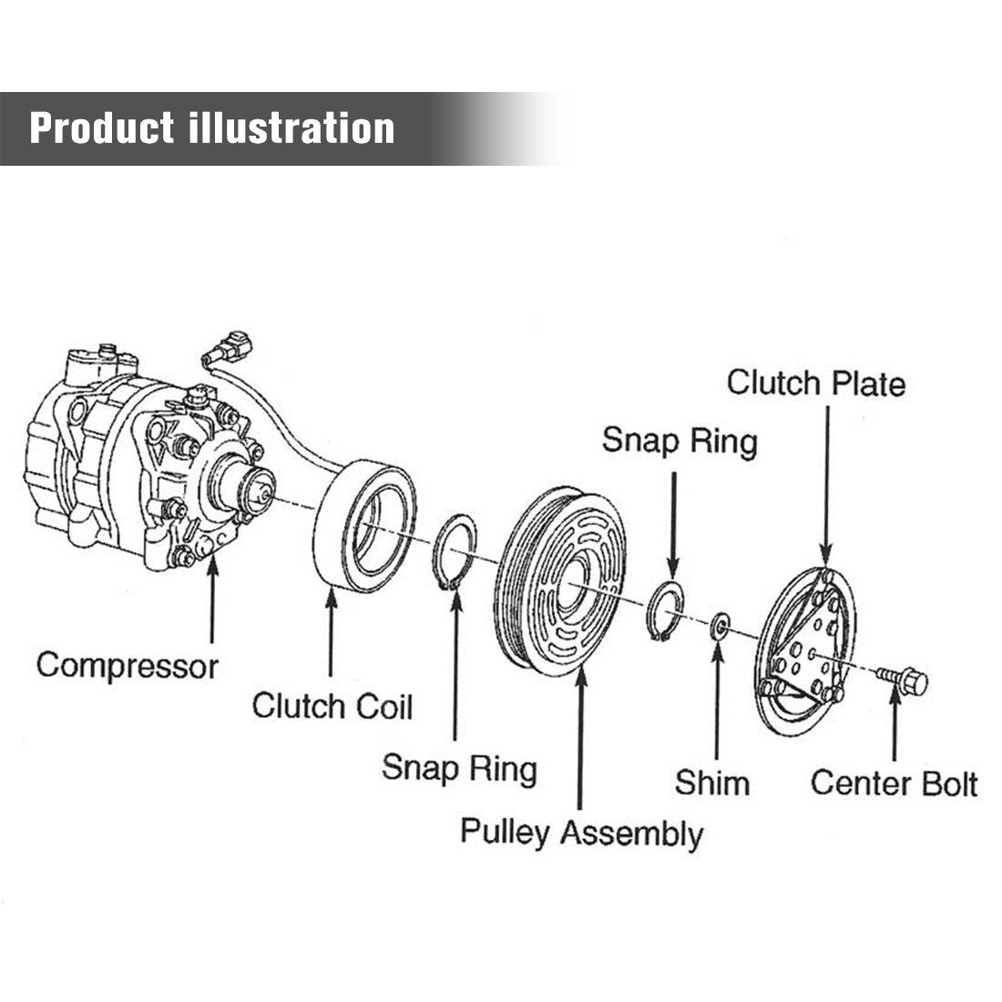 Amazon.com: AUTOSAVER88 A/C Compressor & Clutch for 2002-2003 Dodge Dakota, Durango, Ram1500, 2500, 3500 (V8 5.9L / V6 3.9L / V10 8.0L Engine): Automotive