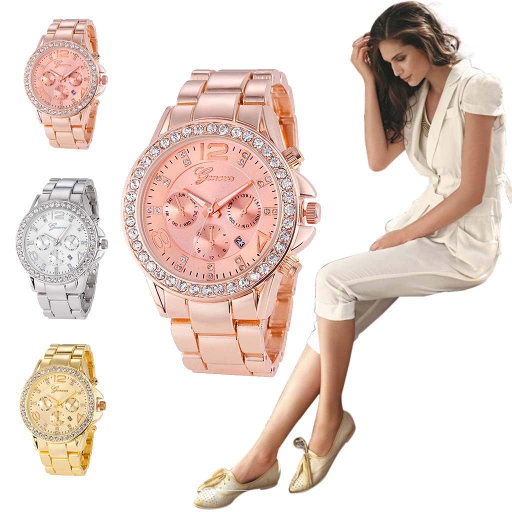 Amazon.com: Pengy Woman Watch Three Eye Roman Watch Scale Dial Silicone Strap Watch Casual Wrist Watches for Women: Watches