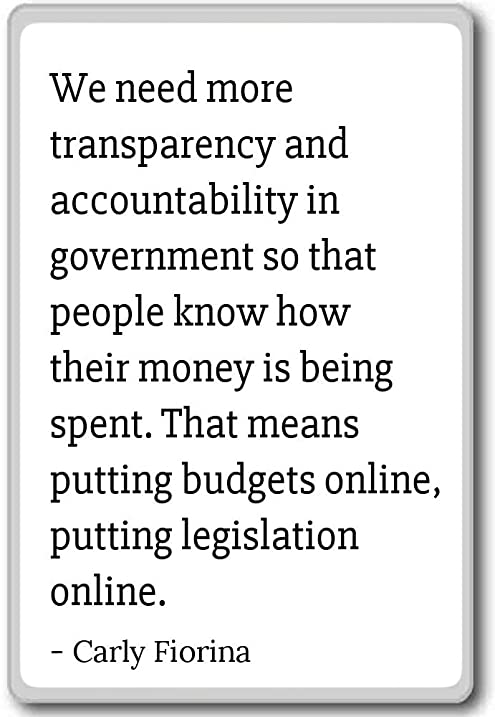 Accountability Quotes Amazing Amazon We Need More Transparency And Accountability Carly