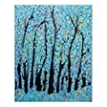 """Custom Beautiful Modern Art Abstract Painting Colorful Tree of Life Canvas Print 16"""" x 20"""" Inch, Stretched and Framed Artwork Decor Wall Living room Office Art Abstract Colorful Tree of Life Oil Paintings Picture Canvas Print Home Decor from Ownhome"""
