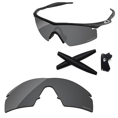 1d022948c53 PapaViva Replacement Lenses   Rubber Kits for Oakley M Frame Strike Black  Grey - Polarized