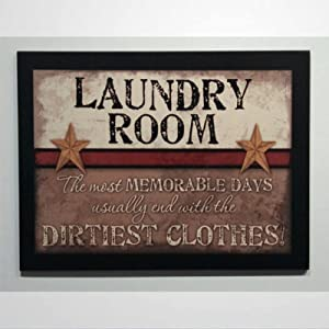 43LenaJon Laundry Room Signs Most Memorable Days Usually End with The Dirtiest Clothes! Inspirational Primitive Wood Sign Plaque Wooden Sign Wood Plaque Wall Art Wall Hanger Home Decor 20x30 cm md249