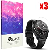 for TicWatch Pro Screen Protector, Lamshaw 9H Tempered Glass Screen Protector for TicWatch Pro Bluetooth Smart Watch (3 Pack)