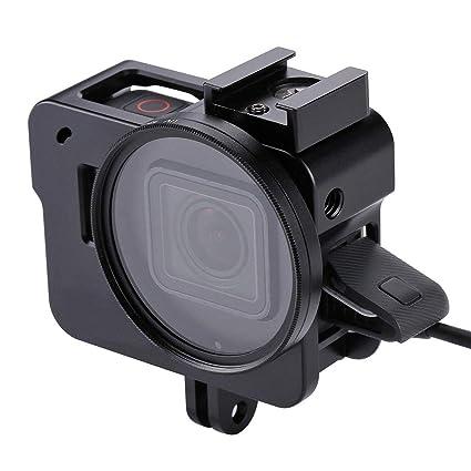 QKa Carcasa de aleación de Aluminio para GoPro Hero 7 Black ...