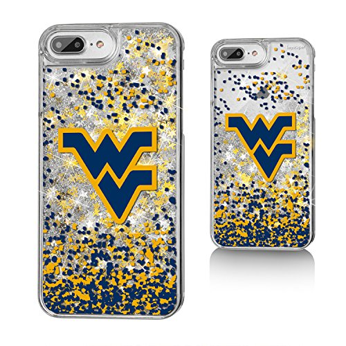Keyscaper West Virginia Mountaineers Gold Glitter Case for the iPhone 6+/6S+/7+/8+ NCAA ()