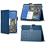 CaseGuru Samsung GALAXY Note PRO 12.2 P9000 Premium Bycast Leather Stand Case/Cover with Ultra Smooth Stylus (Dark Blue)
