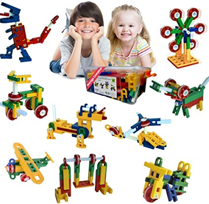 Year Old Kids 106 PCS Aircraft Model Educational Building Blocks Toys Kit For 5