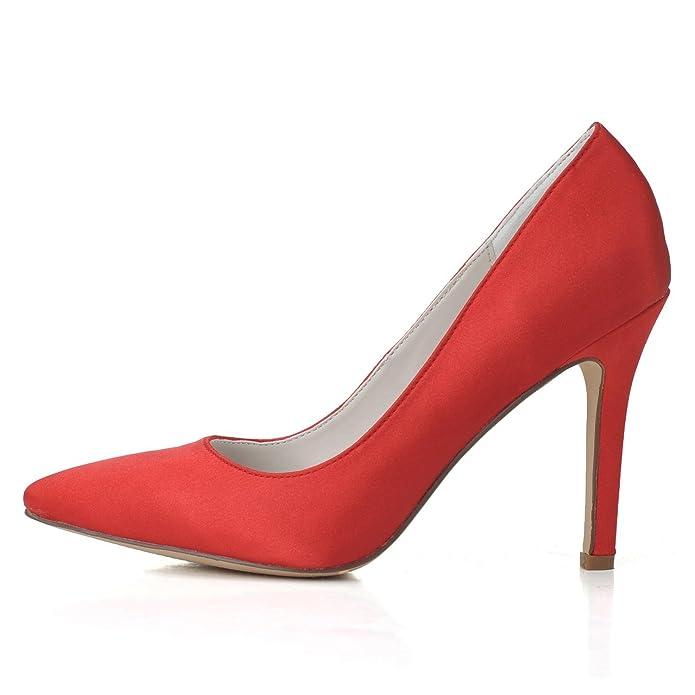 Elobaby Las Altos Tacones Zapatos Nupcial Mujeres De Boda wA1BSA