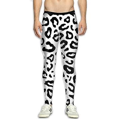 BVTHNTI Black Leopard Mens Fitness Sports Compression Tights Pants