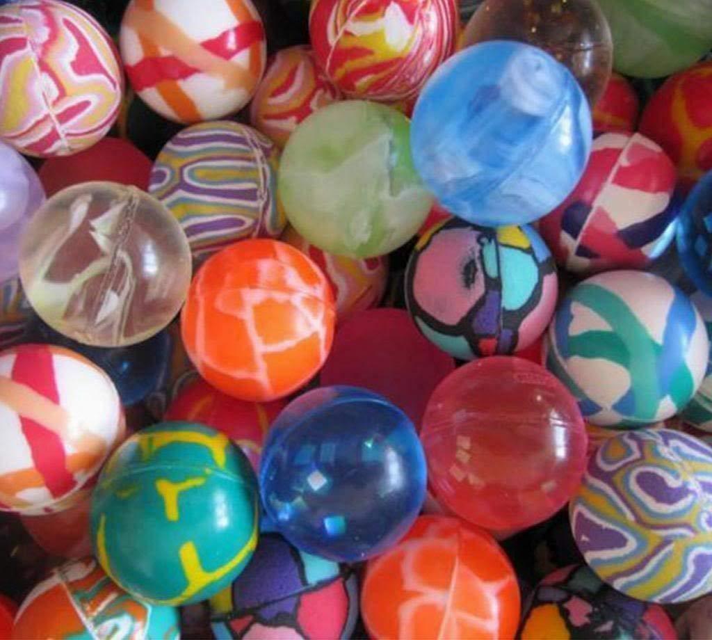 ouken 50Pcs Super rebondir Le Ballon Gonflable de 30mm Jet Boules Enfants Kids Birthday Party Sac Cadeau Jouet