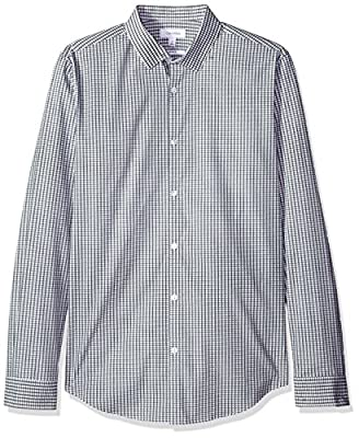 Calvin Klein Men's Infinite Cool Slim Fit Button Down Shirt Check Print