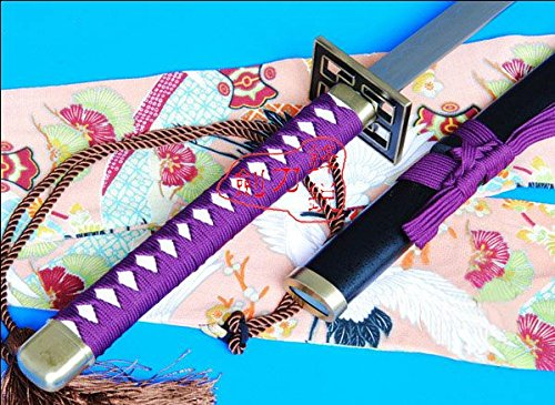 S3105 ANIME BLEACH KUCHIKI BYAKUYA SENBONZAKURA SWORD HABUCHI BLADE PURPLE VERSION 41.9""