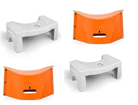 Qazwsx bagno sgabello da toilette pieghevole con portaspezie