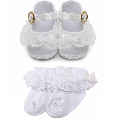 amazon com delebao baby girl infant buckle christening satin