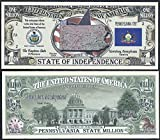 Pennsylvania State Educational Million Dollar W Map, Seal, Flag, Capitol - Lot of 100 Bills