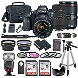 Canon EOS 6D MARK II DSLR Camera Bundle with Canon EF 24-105mm f/4L IS II USM Lens + Sigma 70-300mm f/4-5.6 DG Autofocus Lens + 2pc SanDisk 32GB Memory Cards + Premium Accessory Bundle Kit (20 Items)