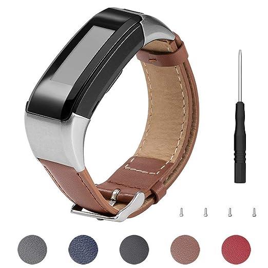Keweni Für Garmin Vivosmart HR, Ersatz Lederband Armband Zubehör für Garmin Vivosmart HR