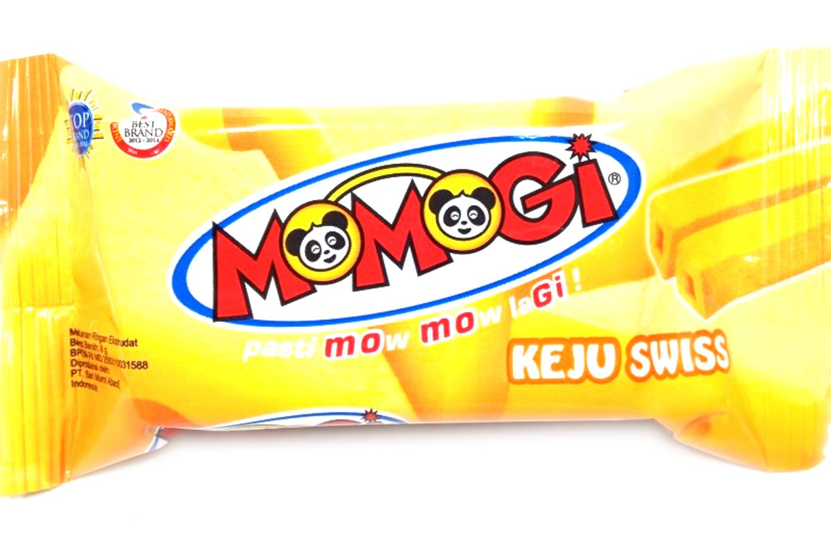 Momogi Corn Stick Cheese Flavor (Stick Keju Swiss) - 0.35oz (Pack of 1)