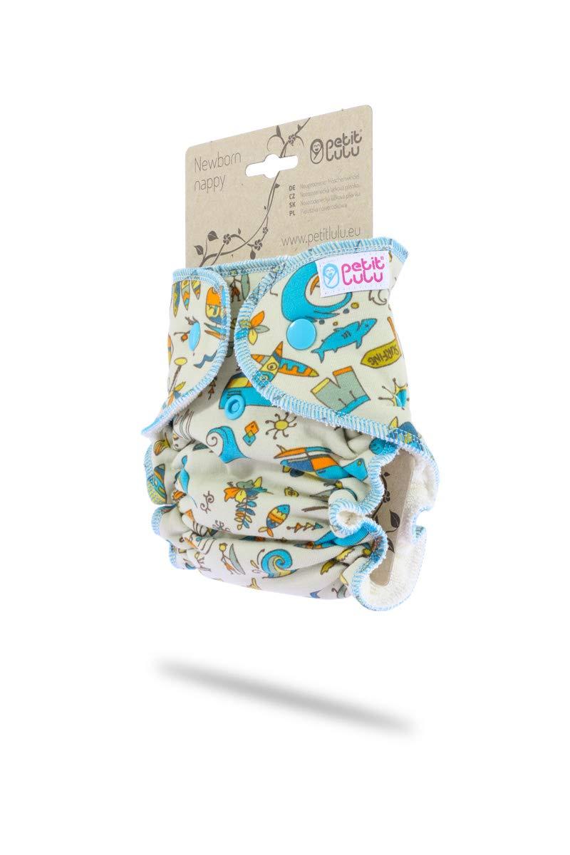 2-6kg Giraffen Petit Lulu H/öschenwindel f/ür Neugeborene Druckkn/öpfe t/ürkis