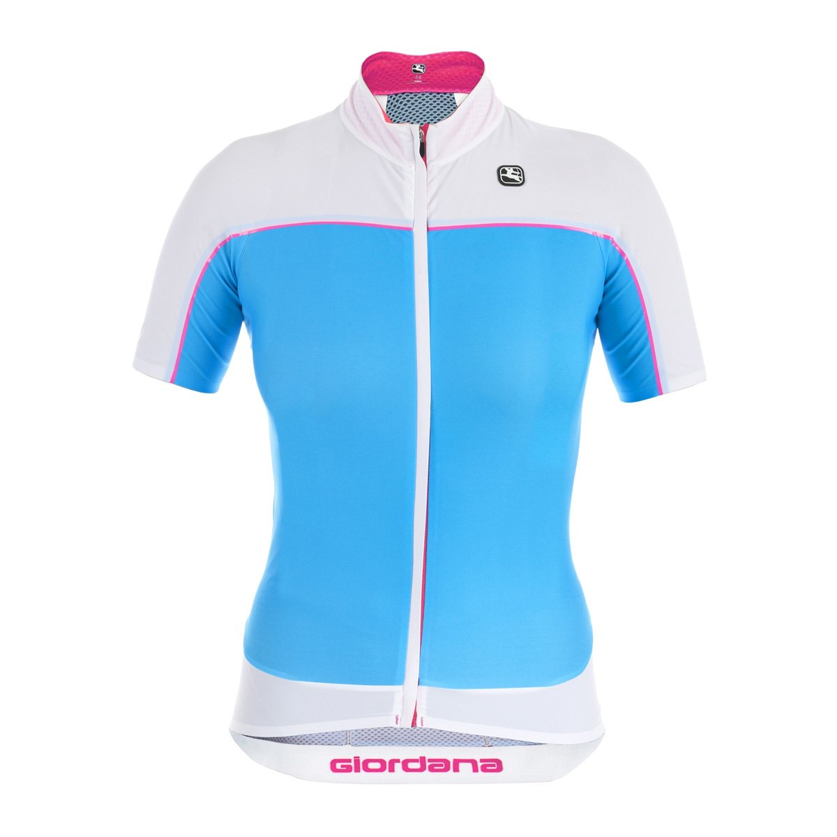 Giordana nx-g Jersey – 半袖 – Women 's B01EV80LFU Large|Turquoise Blue/White Turquoise Blue/White Large