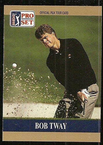 (bob tway pro set prototype card 1990 golf card pga)