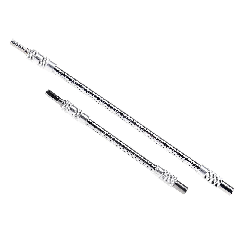20 cm 30 cm Lot de 2 embouts flexibles 1//4 6 pans