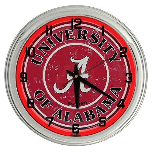 Ncaa College Neon Clock - Alabama University Red Neon clock from Redeye Laserworks