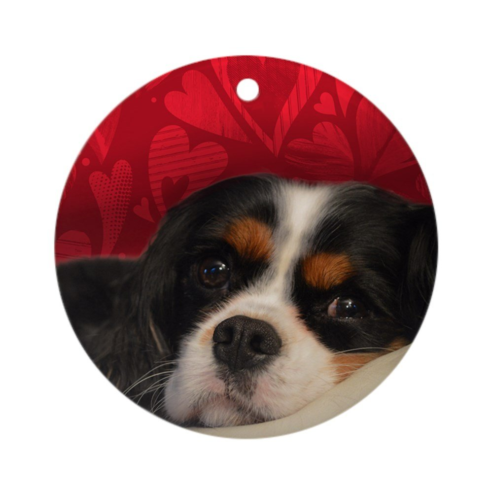 CafePress - Tri-Color Cavalier King Charles Spa Round Ornament - Round Holiday Christmas Ornament