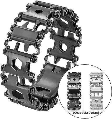 Multifunction Tool Outdoor Bracelet TREAD Emergency Hiking Stainless Steel