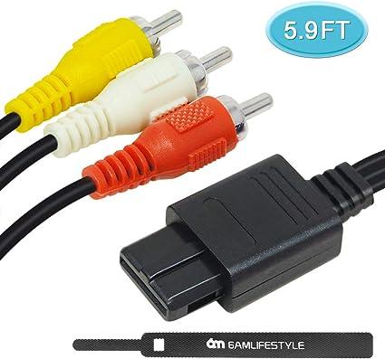 Amazon.com: N64 AV Cable, 6 amlifestyle 5,9 pies Composite ...