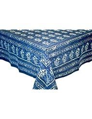 Hand Made Dabu Block Print 100 Cotton Tablecloth 60x90 Rectangular Astonishing