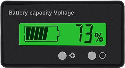 Konsky Dc 12 V 24 V 36 V 48 V Lcd Batterie Kapazitäts Monitor Prüfgerät Universal Batterie Kapazitäts Voltmeter Tester Mit Lcd Anzeige Für Auto Auto Fahrzeug Batterieüberwachung Auto