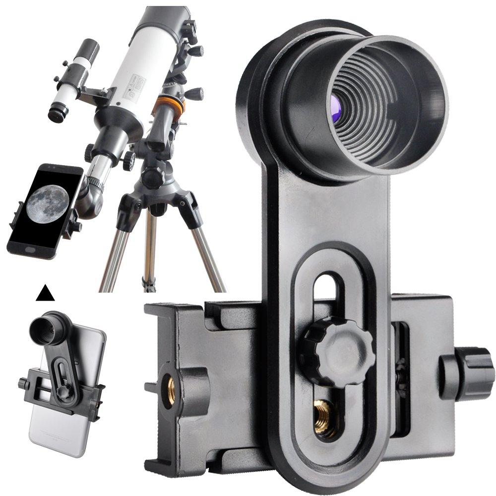 Landove 1.25inch Universal Smartphone Eyepiece Adapter - 10mm Kellner Eyepiece Design