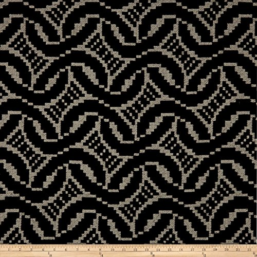 - ARTISTRY 0580164 Patago Chenille Jacquard Onyx Fabric by The Yard,
