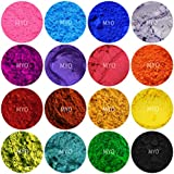 Myo 10 Piece Assorted Mini Pod Sampler Shimmer Mica & Mineral Matte Powder 1/2 Gram Each Pod For Slime, Soap Making, Cosmetic, Candle Making, Nail Art, Resin Jewelry, Acrylic and other Craft Projects