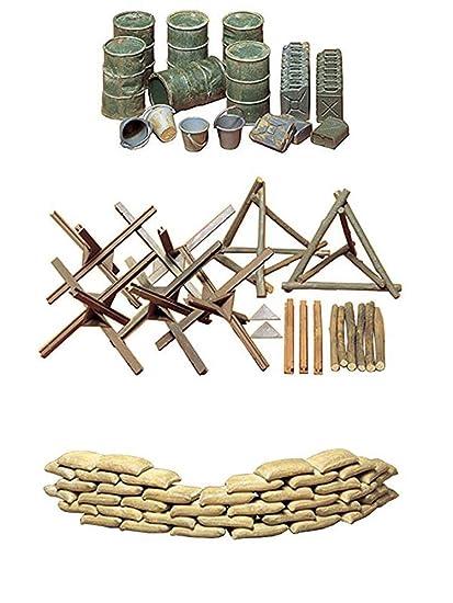 Amazon.com: Juego de 3 modelos de montaje militar de Tamiya ...
