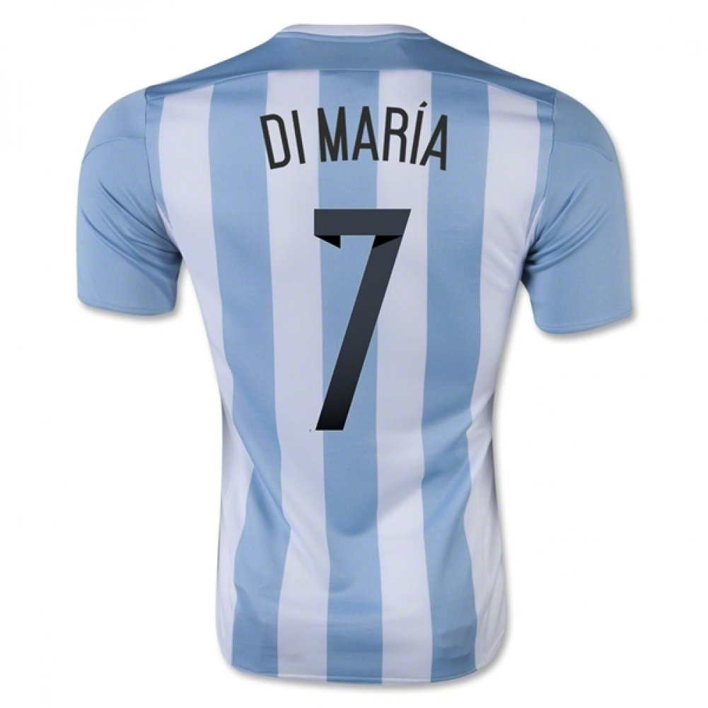 2015-16 Argentina Home Football Soccer T-Shirt Trikot (Angel Di Maria 7) - Kids