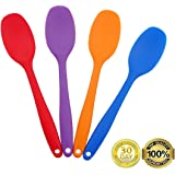 Always Your Chef 4 Pack 8.2 Inches/Small Premium Silicone Mixing Spoons for Kitchen, Cooking, Baby, Baking, Mixing Salad and More,2 Random Colors