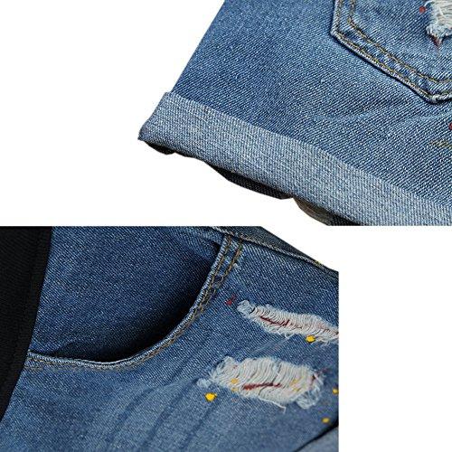 ventre Style2 lastique Deylaying Mode Shorts Neuf Maternit de Femme Denim Jeans soutien wORqv