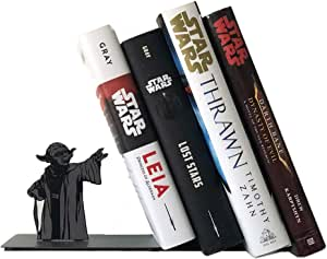 Yoda Bookend, Star Wars Bookend, Bookends Supports for Office and Home,Yoda The Force Bookshelf