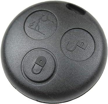 2x Fernbedienung Schlüssel Gehäuse mit Taster für Smart ForTwo MC01 450 3Tasten