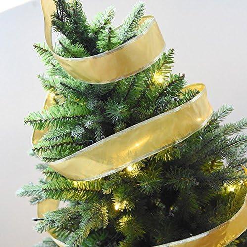 Da.Wa 2m Cintas para /Árbol de Navidad Adornos de Navidad Cintas de Boda Decoraci/ón Cintas de Partido 5 cm de Ancho