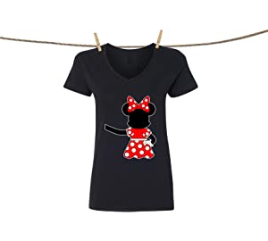 ad36b0b6931dc Natural Underwear Disney Mickey Mouse and Minnie Mouse V Neck T-Shirts for  Women