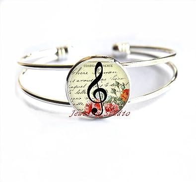 Amazoncom Charming Fashion Braceletg Clef Bracelet Music