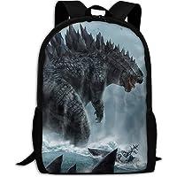 Godzilla Sea Print Multi-Function Great High School School Bag Ultralight College Backpack Bookbag for Traveling