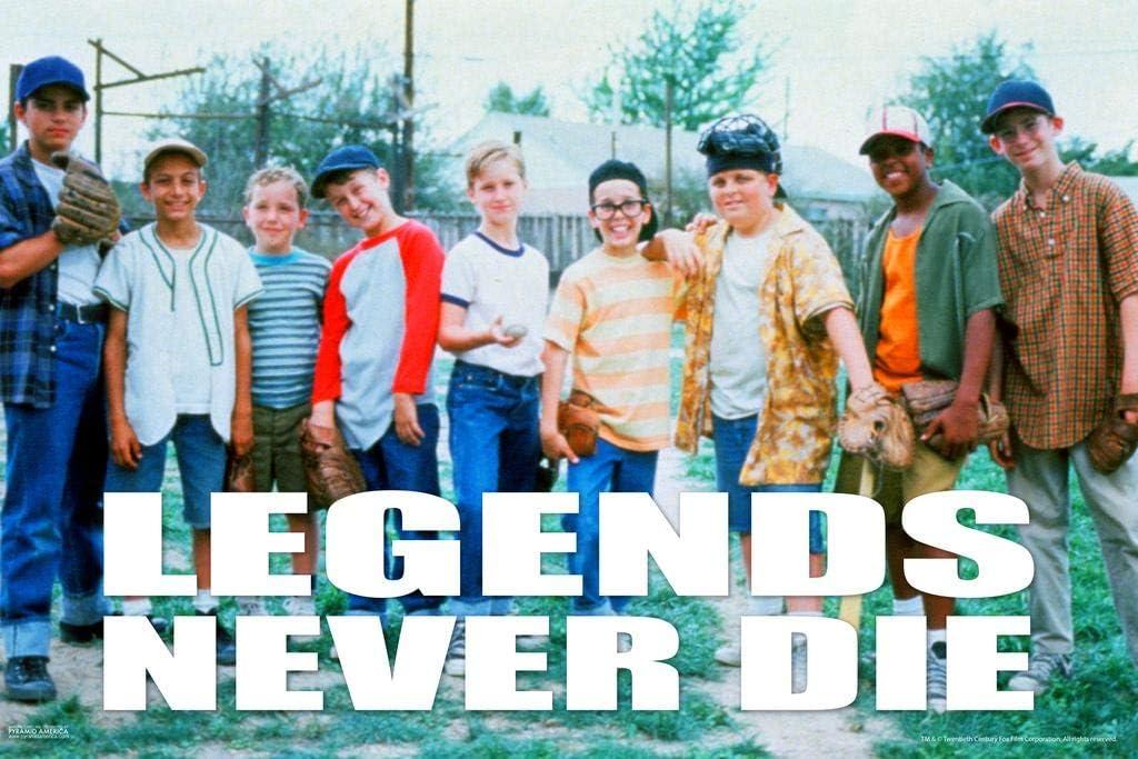 Pyramid America The Sandlot Movie Legends Never Die Baseball Bat Sports Film Classic Laminated Dry Erase Sign Poster 12x18