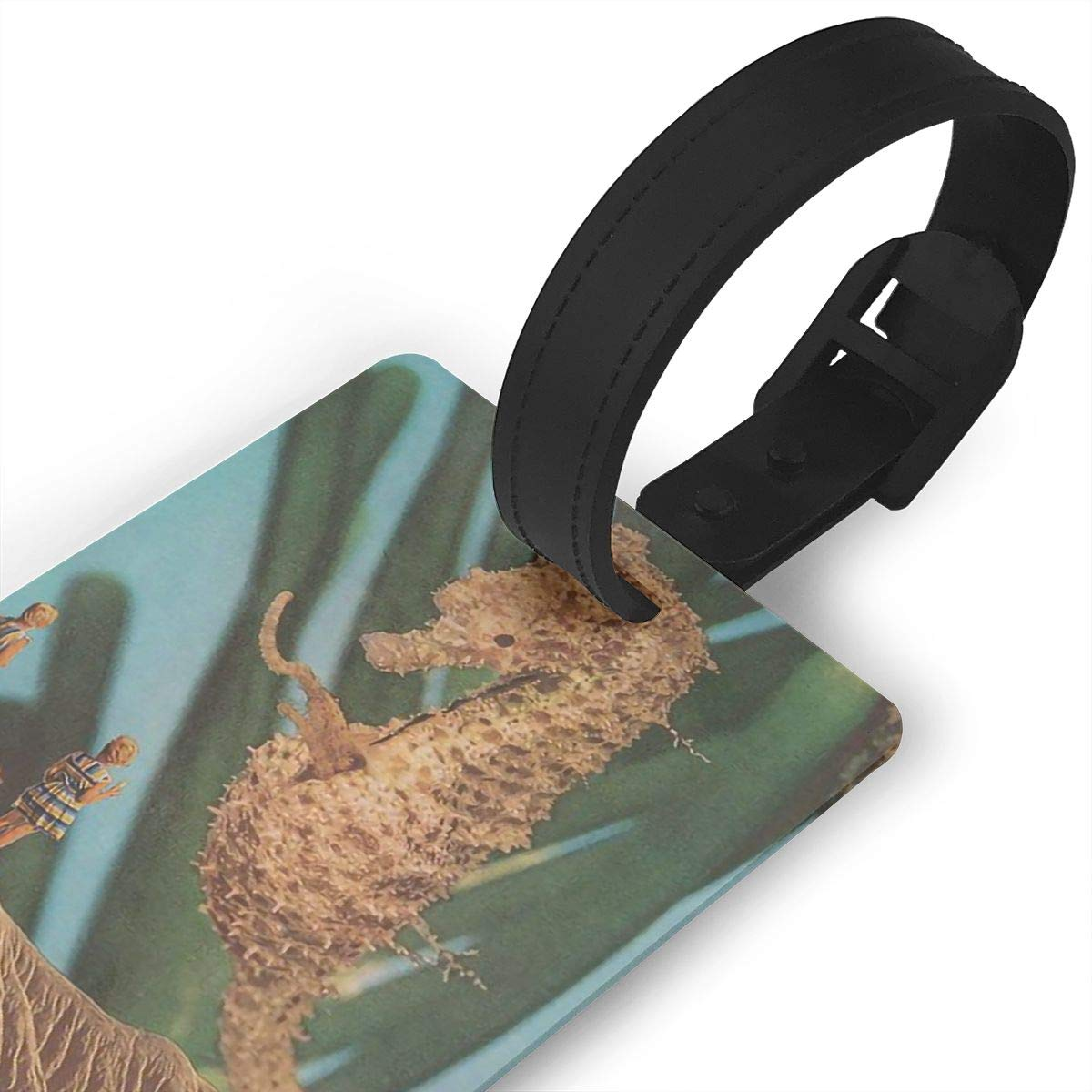 2 Pack Luggage Tags Sea Horse Baggage Tag For Suitcase Bag Accessories